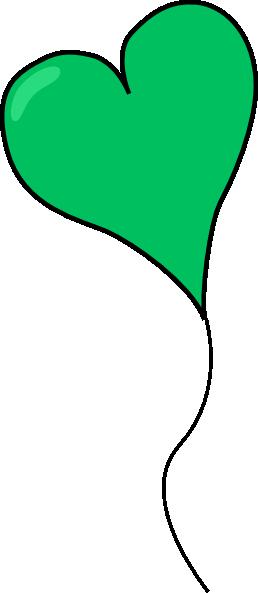 258x593 Green Heart Balloon Clip Art