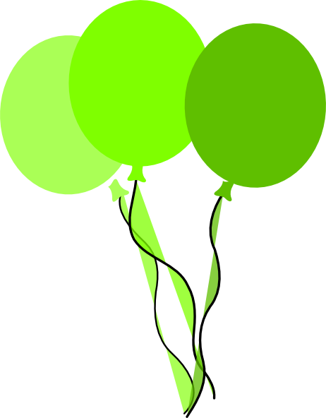 462x592 Green Party Balloons Clip Art