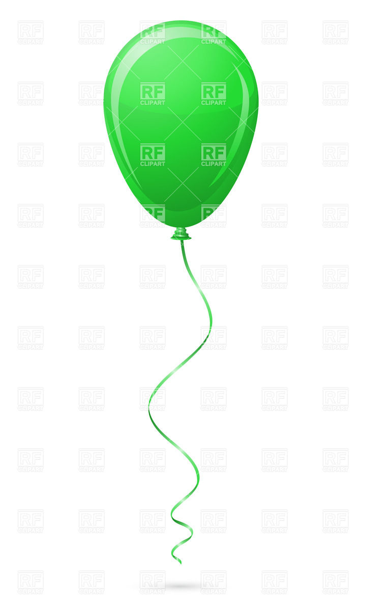 720x1200 Green Balloon Royalty Free Vector Clip Art Image