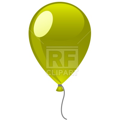 400x400 Green Balloon Royalty Free Vector Clip Art Image
