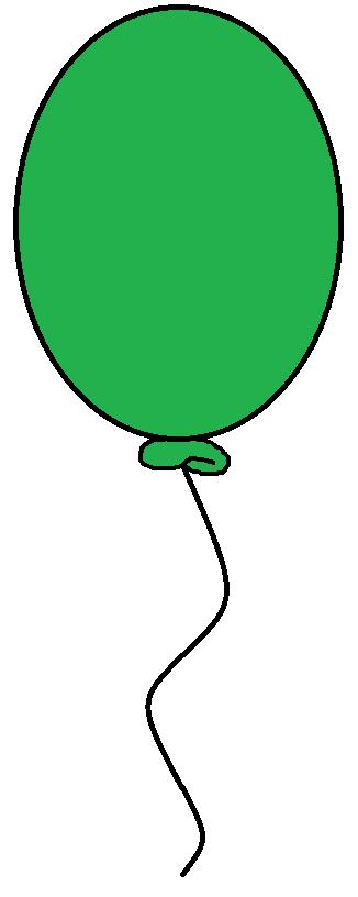 326x816 Green Balloon Clipart