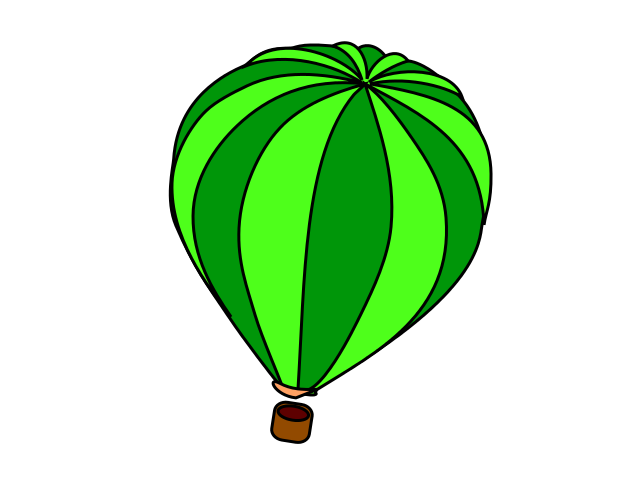 640x480 Green Clipart Hot Air Balloon