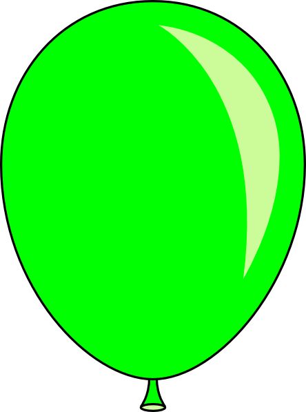 444x597 New Green Balloon Clip Art