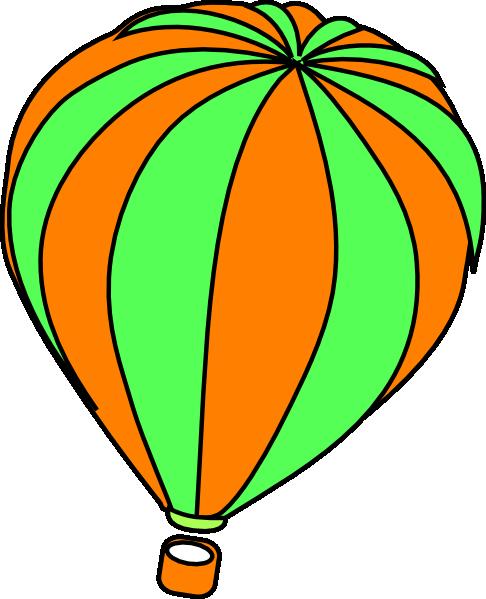 486x599 Orange Clipart Hot Air Balloon