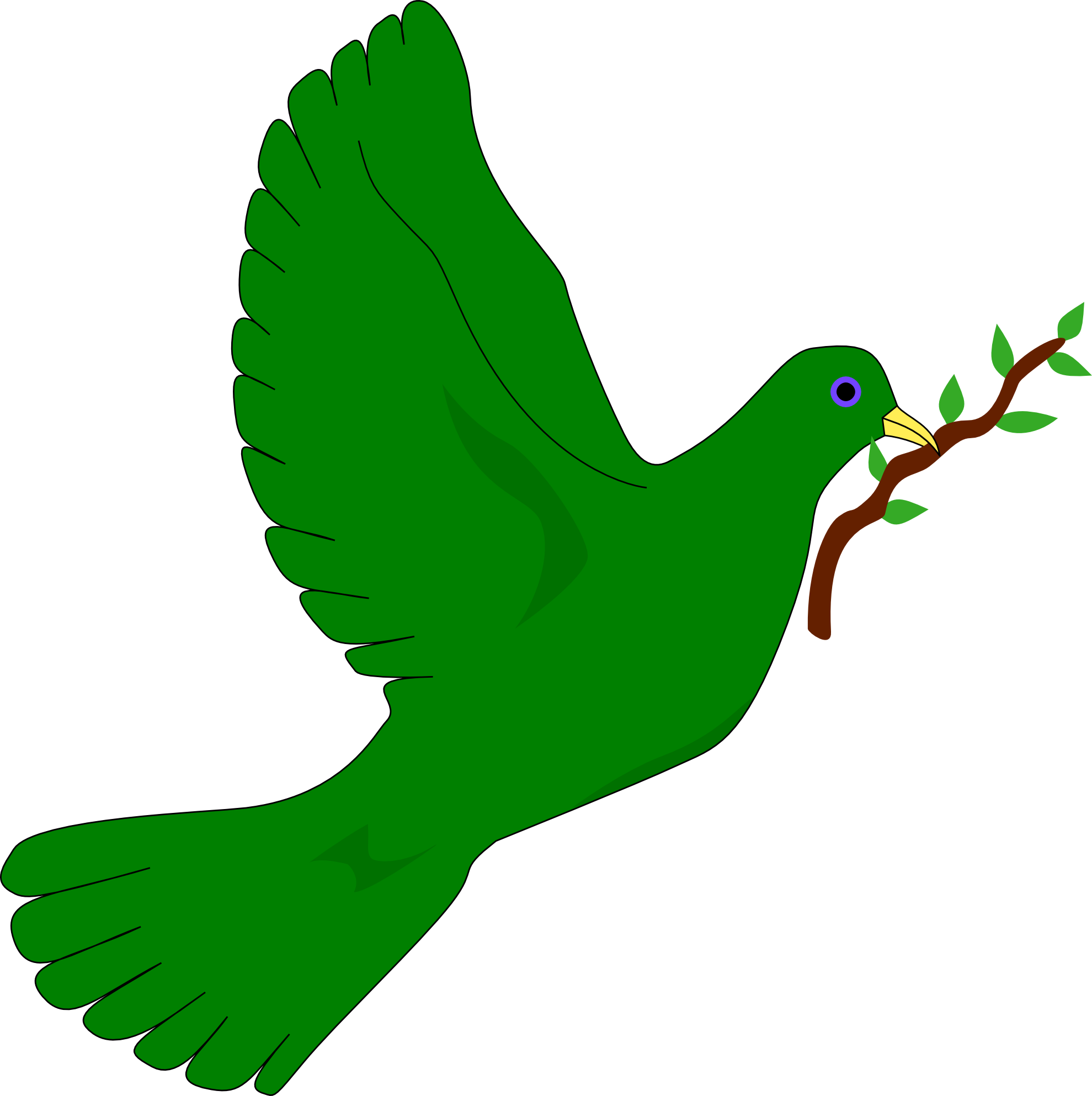 1979x1986 Dove Clipart Green