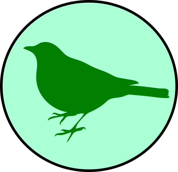 600x581 Emerald Circle Bird Clip Art