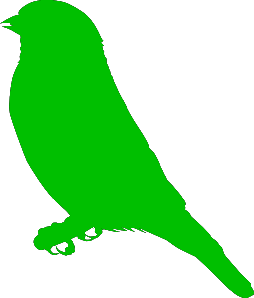 510x599 Green Bird Clip Art