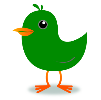 333x330 Green Bird Clip Art Cliparts