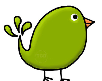 340x270 Green Bird Clipart