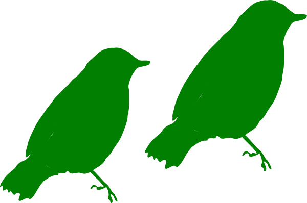 600x398 Green Birds Clip Art