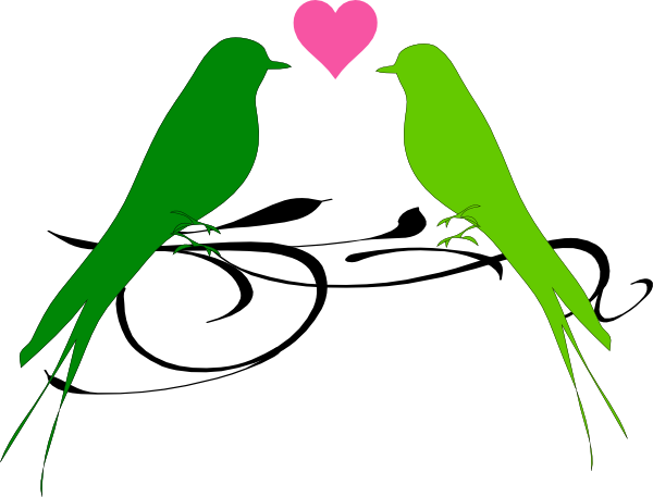600x457 Love Birds Clip Art
