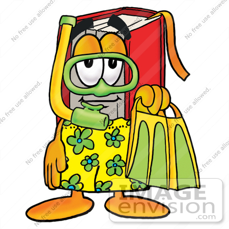 450x450 Clip Art Graphic Of A Book Cartoon Character In Green And Yellow
