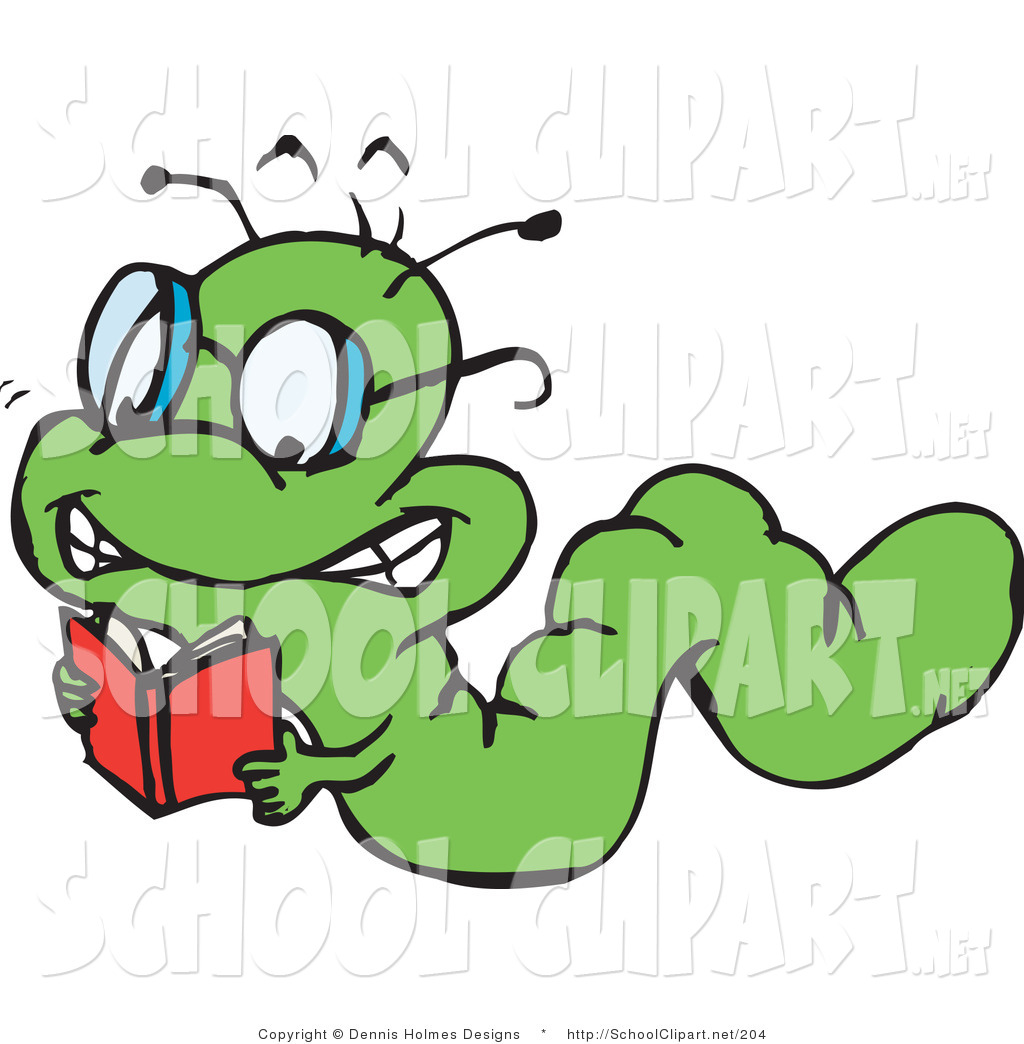 1024x1044 Clip Art Of A Smart Green Book Worm Crawling And Reading By Dennis