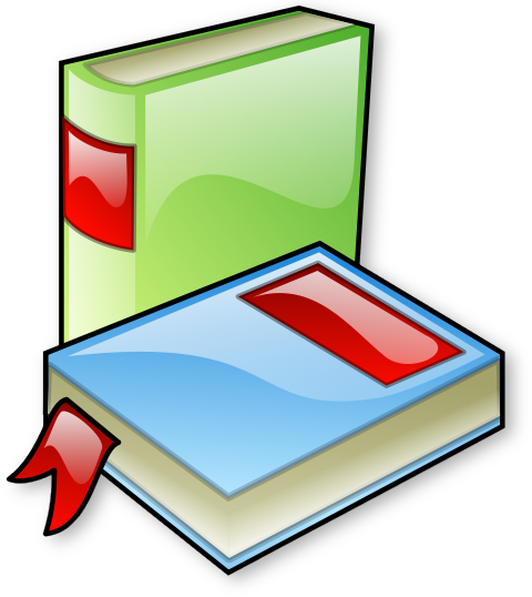 480x538 Free Green Book Clipart
