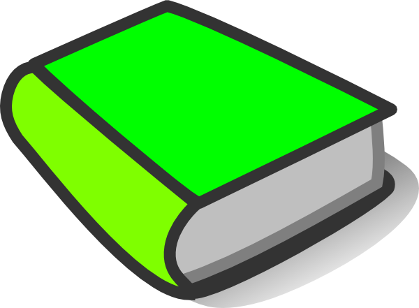 600x441 Green Book Reading Clip Art