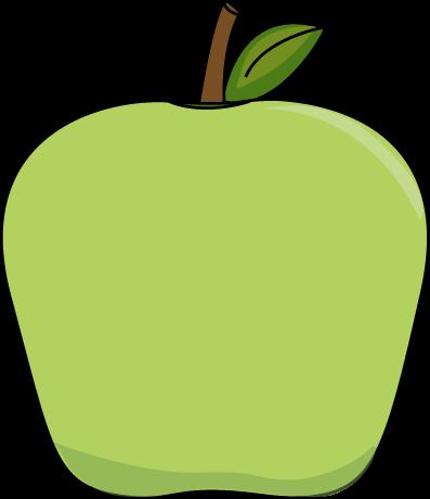 397x460 Big Green Apple Clip Art Image Printables Amp Tutorials