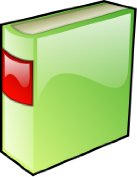 462x597 Green Hard Covered Book Clip Art