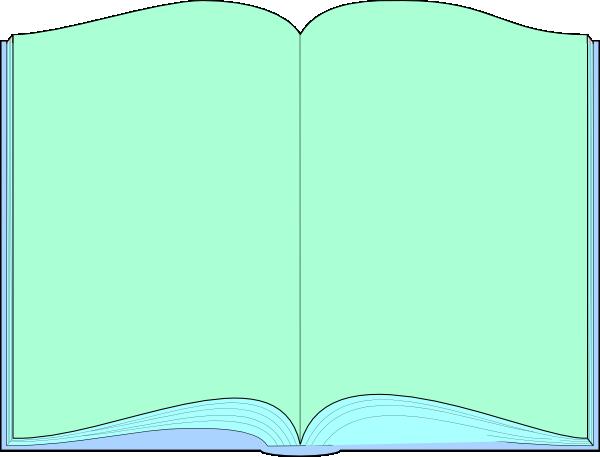 600x457 Green Open Book Clip Art