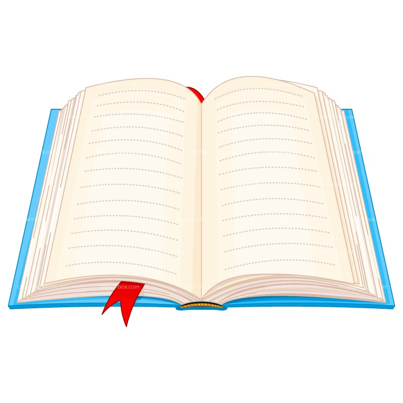 800x800 Open Book With Words Clipart