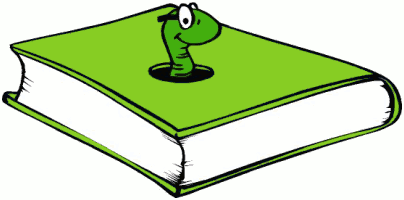 404x200 Book Worm Clipart