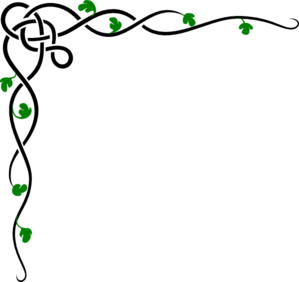 299x282 Corner Border Vine Black Amp Green Clip Art
