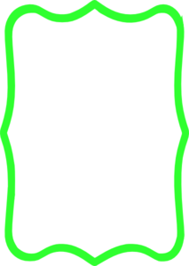 213x300 Green Border Clip Art