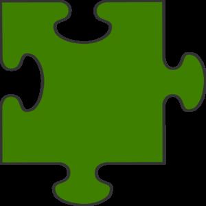 300x300 Green Border Puzzle Piece Clip Art