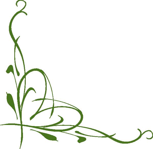 600x583 Green Vine Clip Art