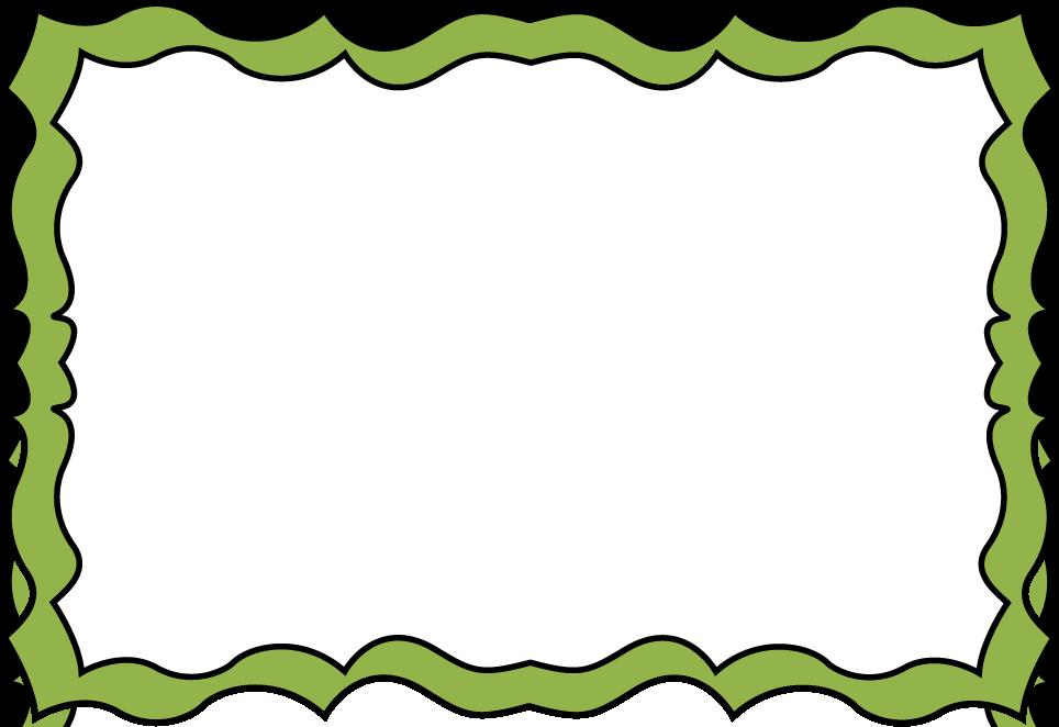 964x662 Green Clipart Boarder