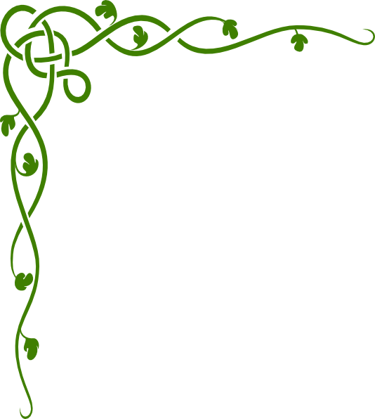 534x596 Border Green Vine Clipart