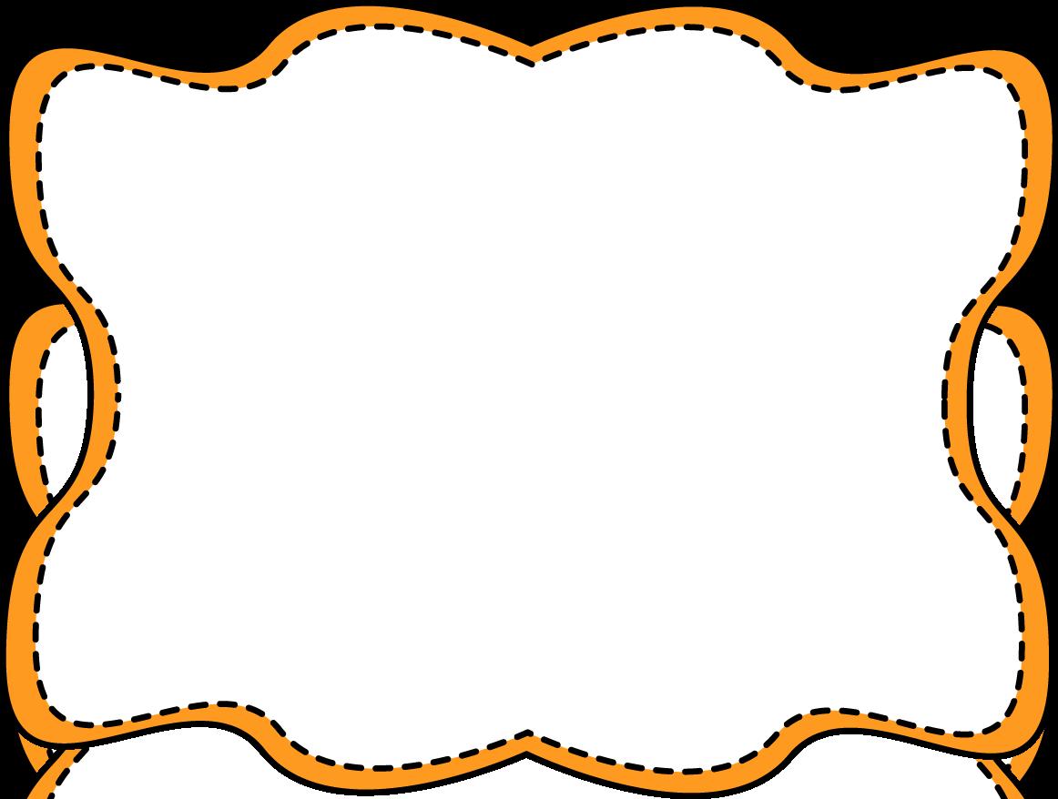 1162x878 Orange Border Clipart