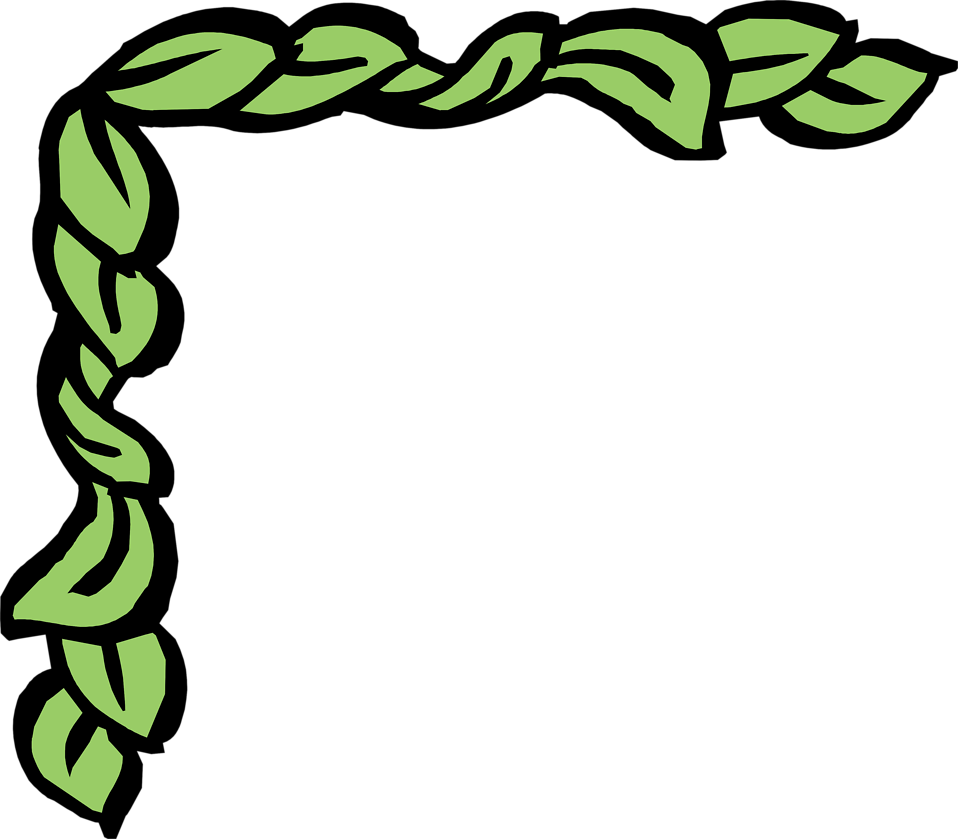958x839 Green Leaf Border Clipart