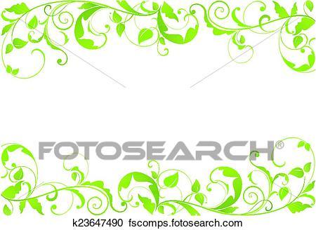 450x328 Clipart Of Green Border K23647490