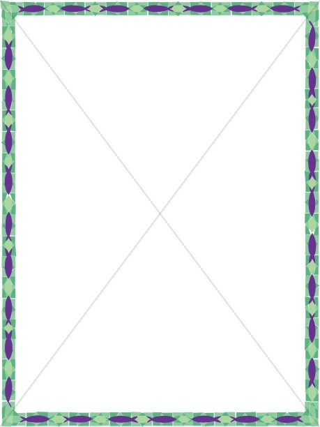 459x612 Green And Purple Stained Glass 2 Religious Borders