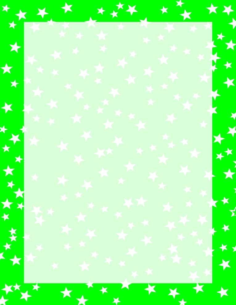 765x990 Green And White Stars Border Free Borders And Clip
