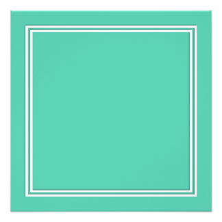 324x324 Mint Green Borders Invitations Amp Announcements Zazzle