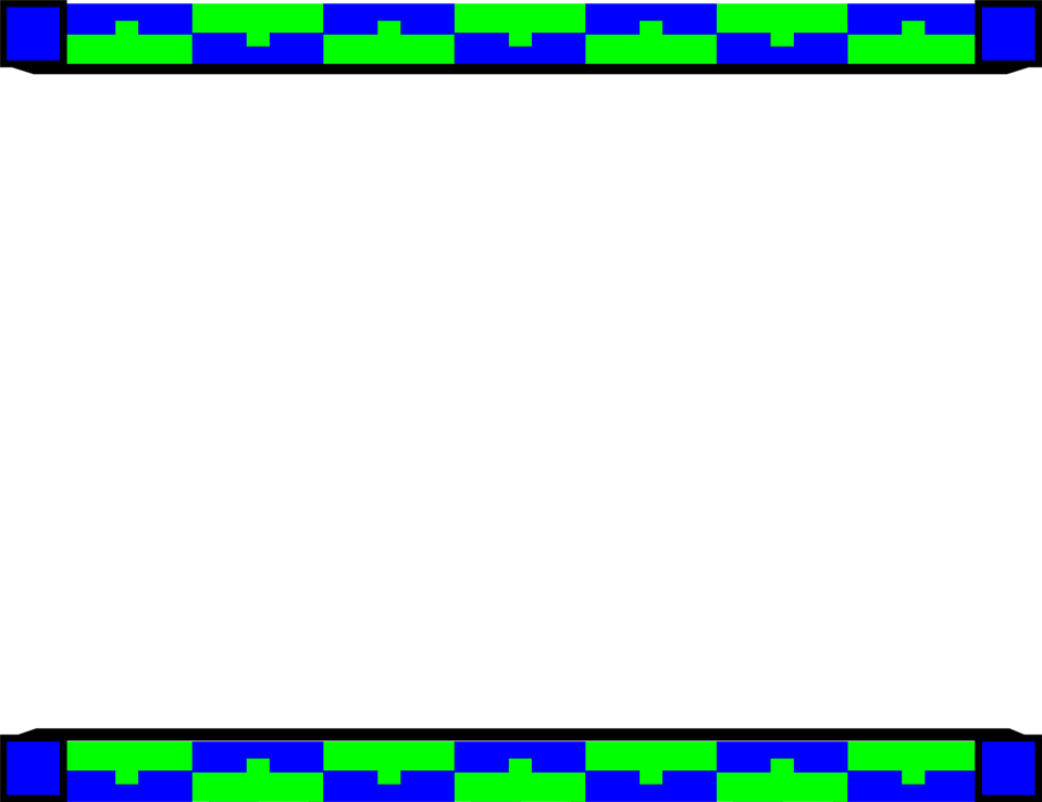 958x738 Blue And Green Border