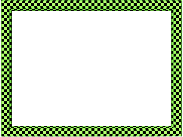 600x450 Green Border Design