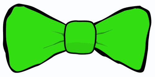 Bow tie green. Clipart free download best