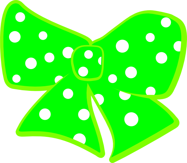 600x524 Bow With Polka Dots Clip Art