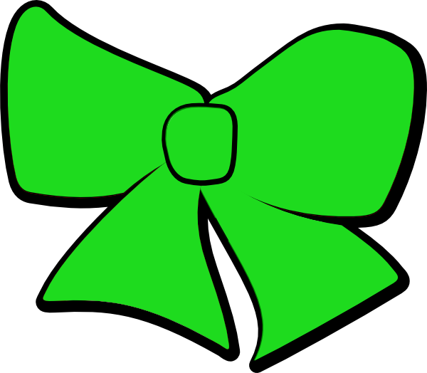 600x524 Green Bow Clip Art