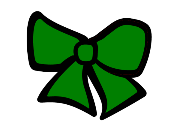 600x450 Green Cheer Bow Free Images