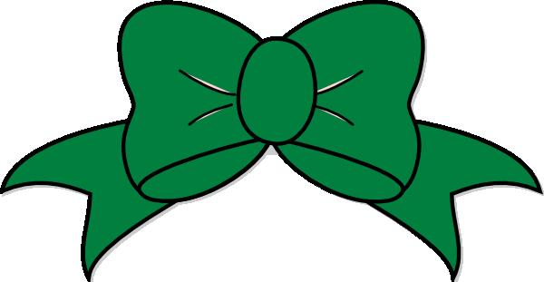 600x311 Green Bow Clip Art