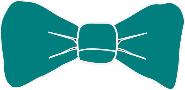 600x294 Teal Bow Tie Clip Art