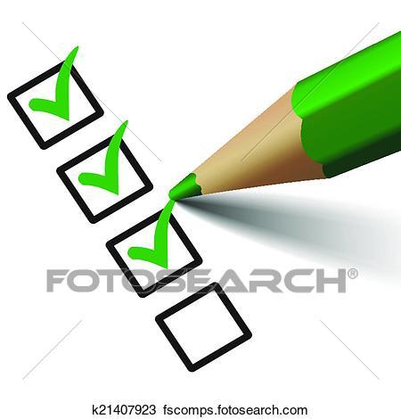 450x470 Clipart Of Vector Check Mark Symbol On Checklist K21407923