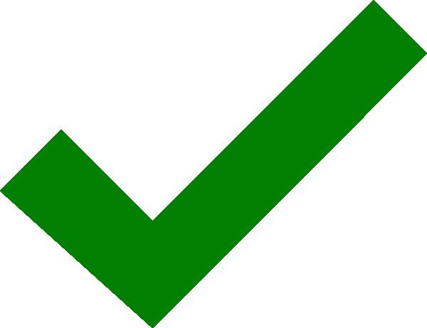 600x461 Dark Green Check Mark Clip Art