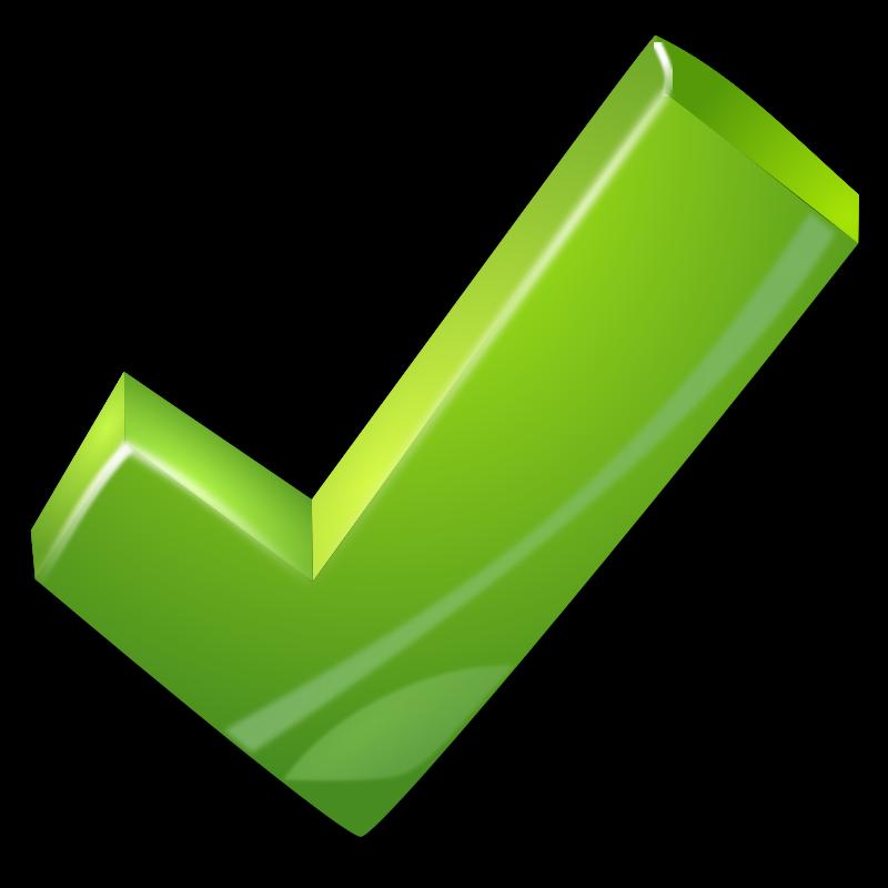 800x800 Free Green Check Mark Clip Art