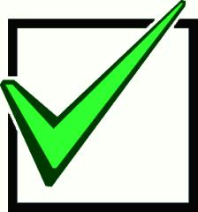 224x240 Green Check Mark Clip Art
