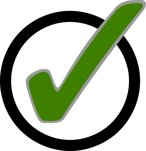 576x596 Green Check Mark In Circle Clip Art