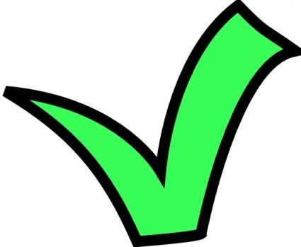 425x349 Green Check Mark Clip Art Vector, Free Vectors